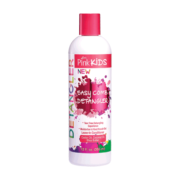 Démêlant hydratant cheveux bouclés Luster's Pink Kids sans rinçage 355ml