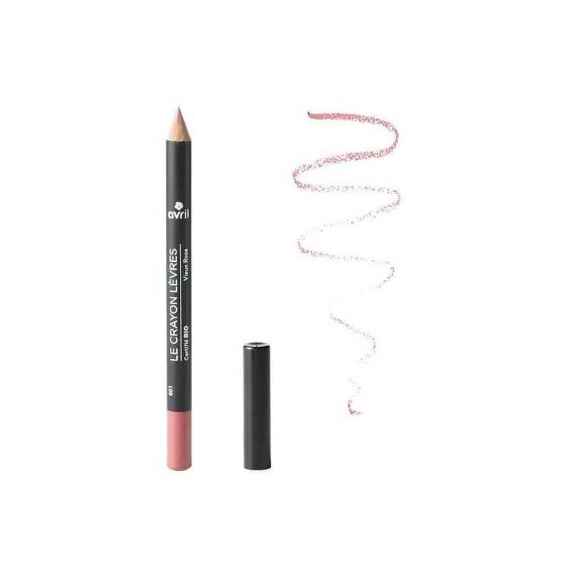 Crayon contour des lèvres Vieux Rose certifié Bio - Avril