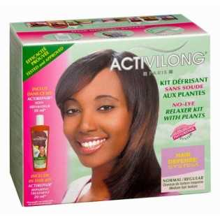 Activilong Kit Défrisant sans Soude aux Plantes Normal Cheveux de Texture Moyenne Hair Defense System