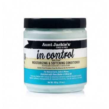 Après-shampoing hydratant adoucissant In Control AUNT JACKIE'S et Curls et Coils