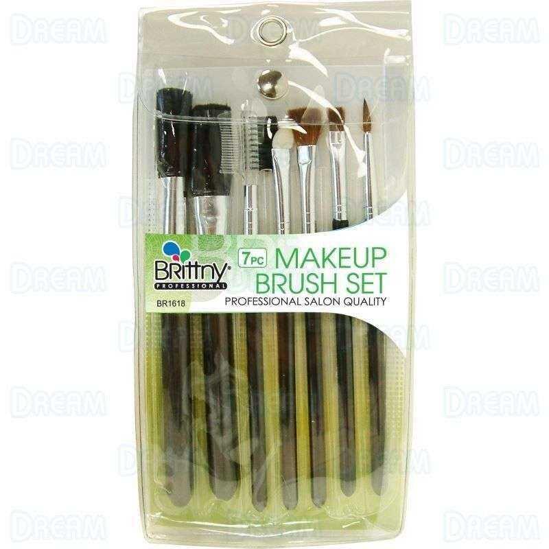 Set de pinceaux de maquillage 7 pièces Brittny