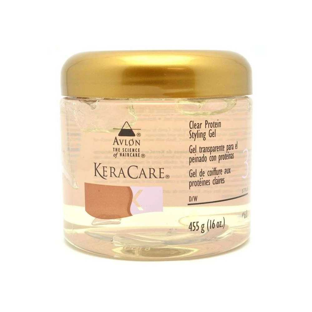 Gel coiffant transparent Clear Protein Styling Gel Keracare 455g