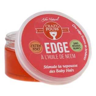GEL EDGE À L'HUILE DE NEEM CRAZY POUSS AFRO NATUREL 100 ml