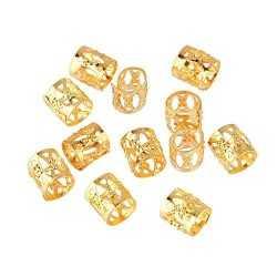Bagues métal Dorées pour Tresses et dreadlocks 12 pièces