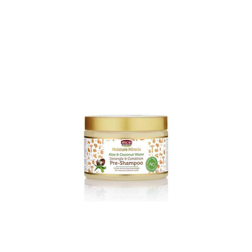 Pré- Shampoing - African Pride - Moisture Miracle aux noix de Coco et d'Aloes 340 g