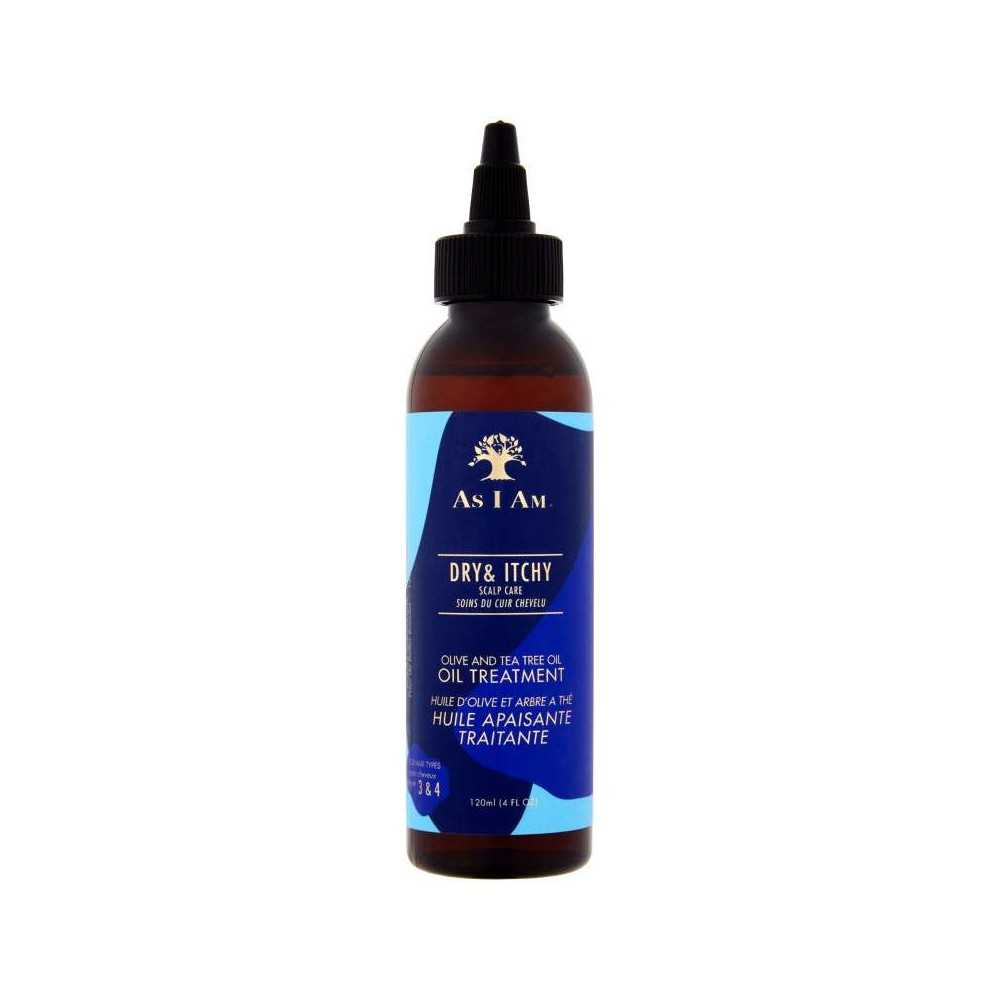 Huile Anti-Pelliculaire AS I AM DRY and ITCH Olive et arbre à thé 120ml