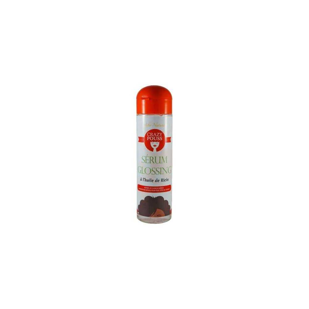 SERUM GLOSSING A L'HUILE DE RICIN CRAZY POUSS AFRO NATUREL 250 ml