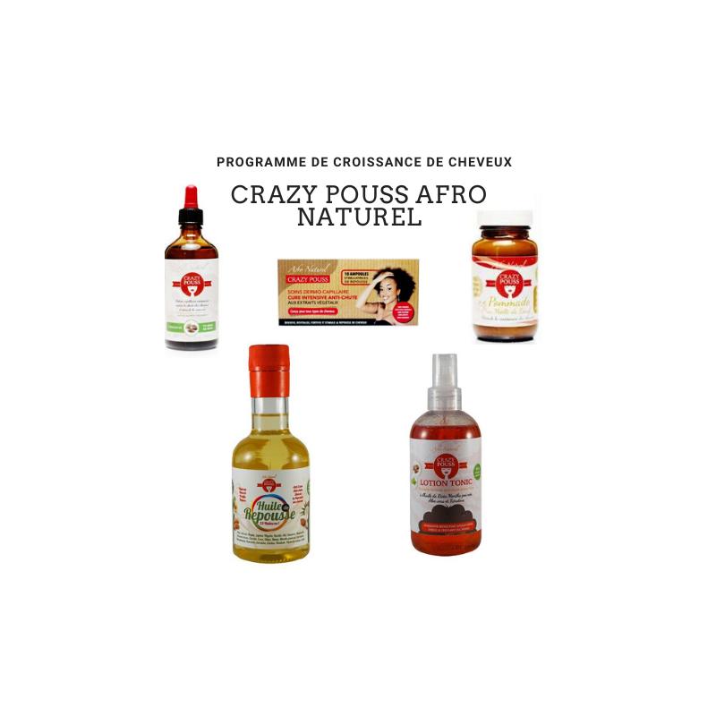 CRAZY POUSS AFRO NATUREL PROGRAMME DE CROISSANCE CHEVEUX CRÉPUS