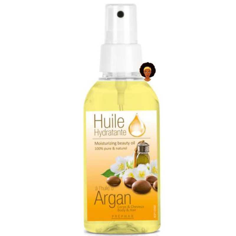 Huile hydratante à l'Argan pour le corps et cheveux PRÉPHAR 100 ml