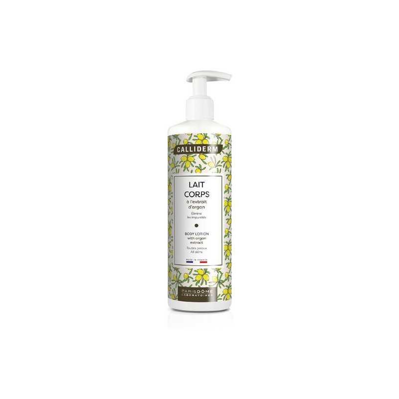 Lait de beauté satin à l'huile d'argan vierge Calliderm 500 ml