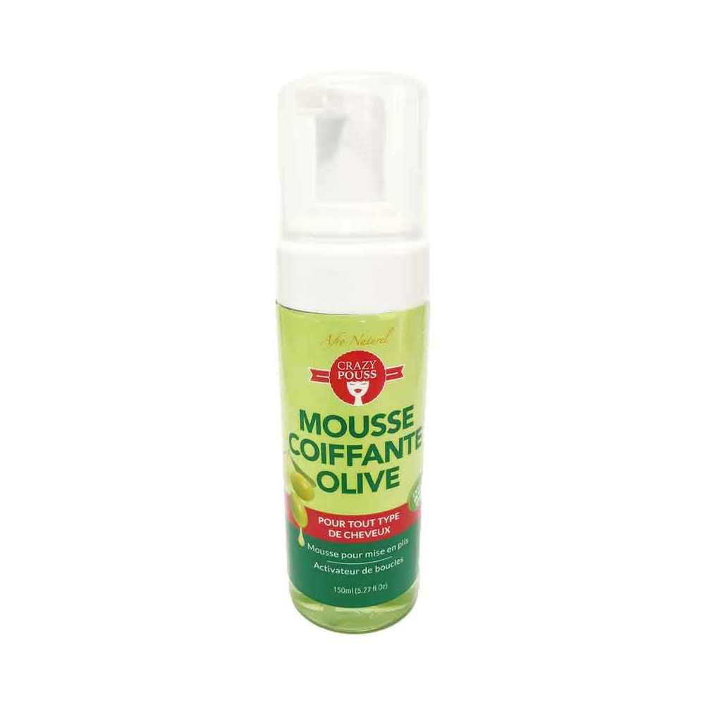 Mousse coiffante olive activateur de boucles Crazy Pouss 150 ml