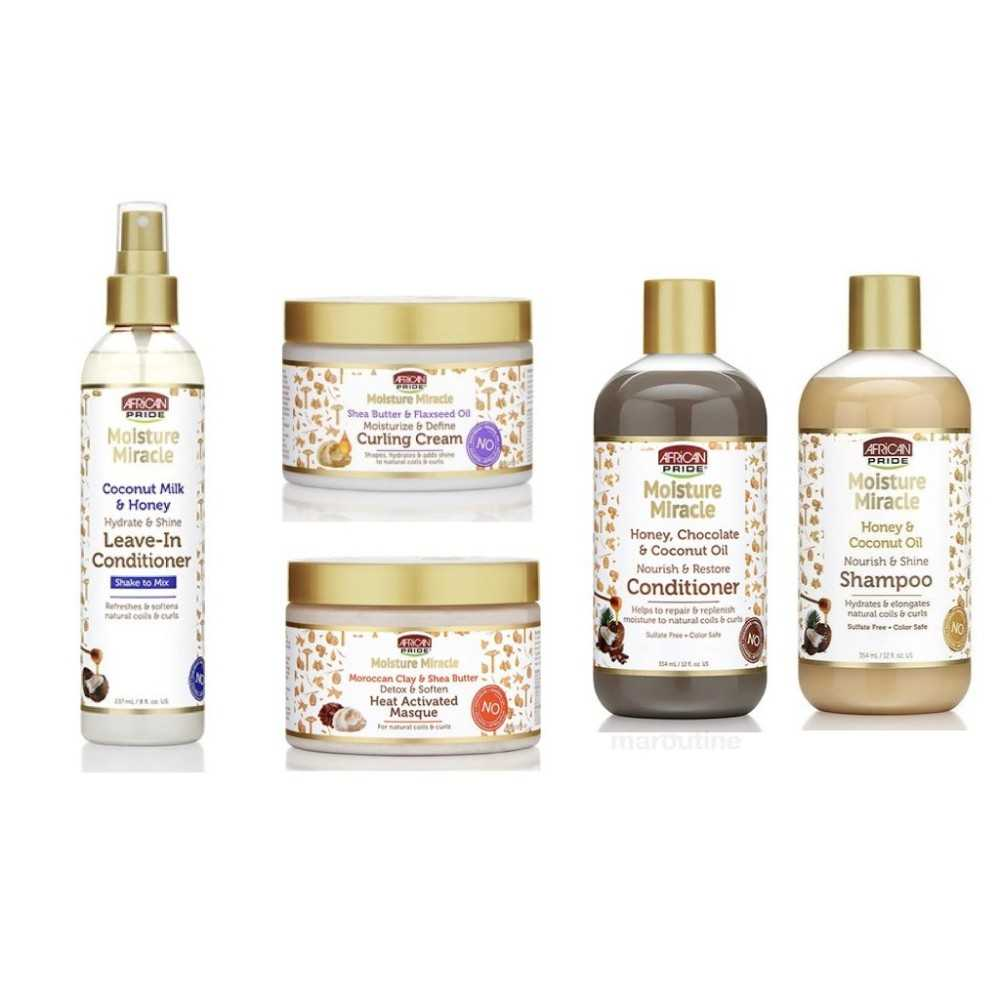 PACK ROUTINE CAPILLAIRE AFRICAN PRIDE MOISTURE MIRACLE