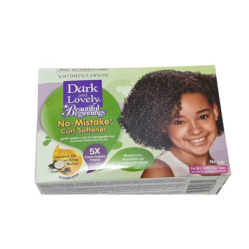 Dark and Lovely ,No-Mistake ® Adoucisseur Curl No-Mistake ® Nourrissant No-Lye Creme Relaxer