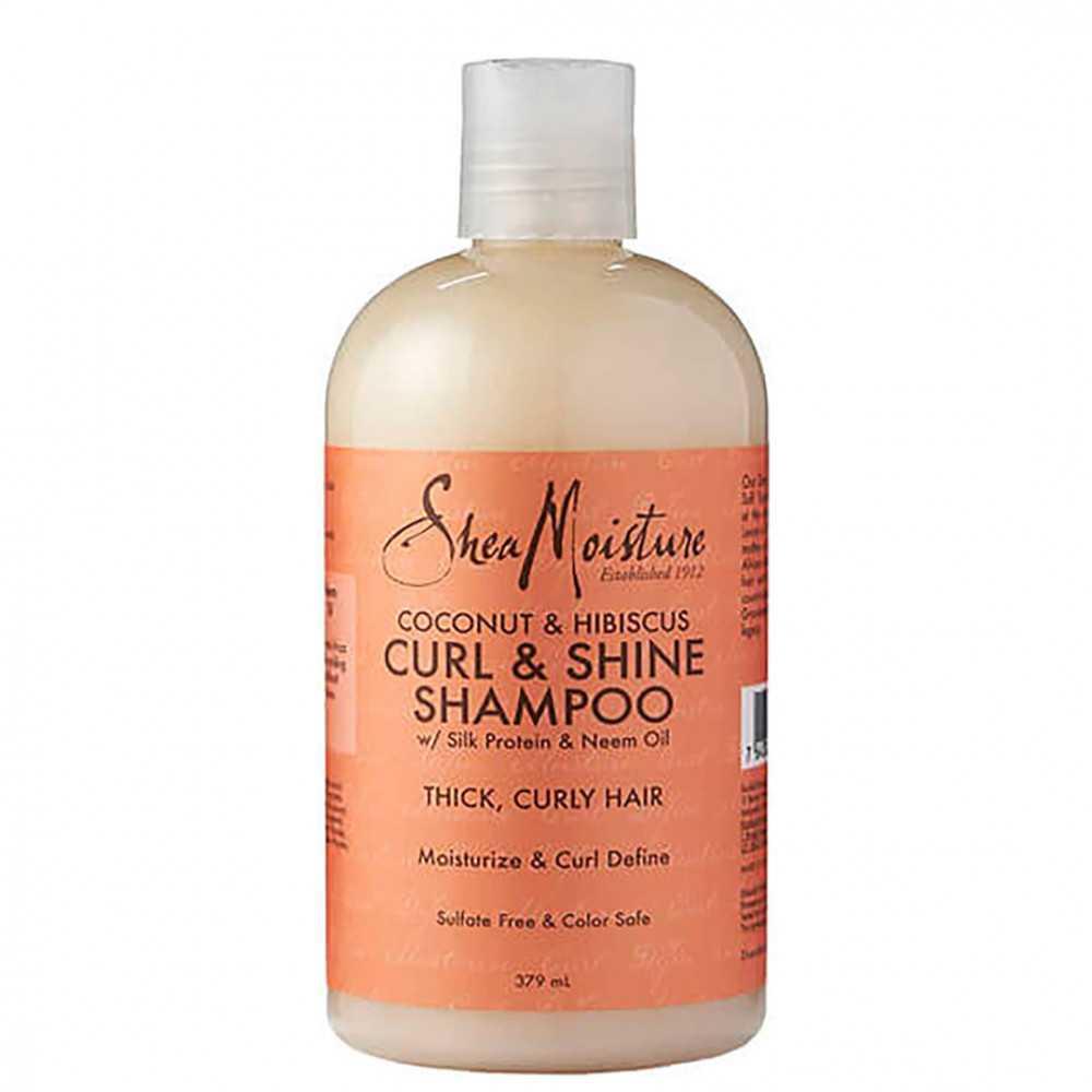 Shampoing Brillance Rehausseur de Boucles à la Noix de Coco et l'Hibiscus Shea Moisture 384ml.jpg