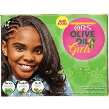 Kit Défrisant Hydratant sans soude pour les jeunes filles - Olive Oil Girls Relaxer - Organic root stimulator
