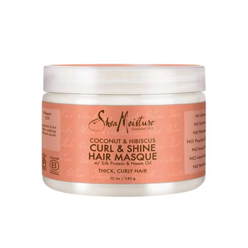 Masque pour boucles Coco - Hibiscus Curl and Shine Shea Moisture 340g