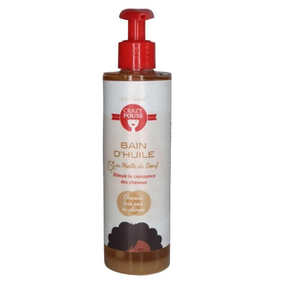 Bain d'huile Moelle de Boeuf cheveux trés secs ou abîmés Crazy Pouss Afro Naturel 250ml