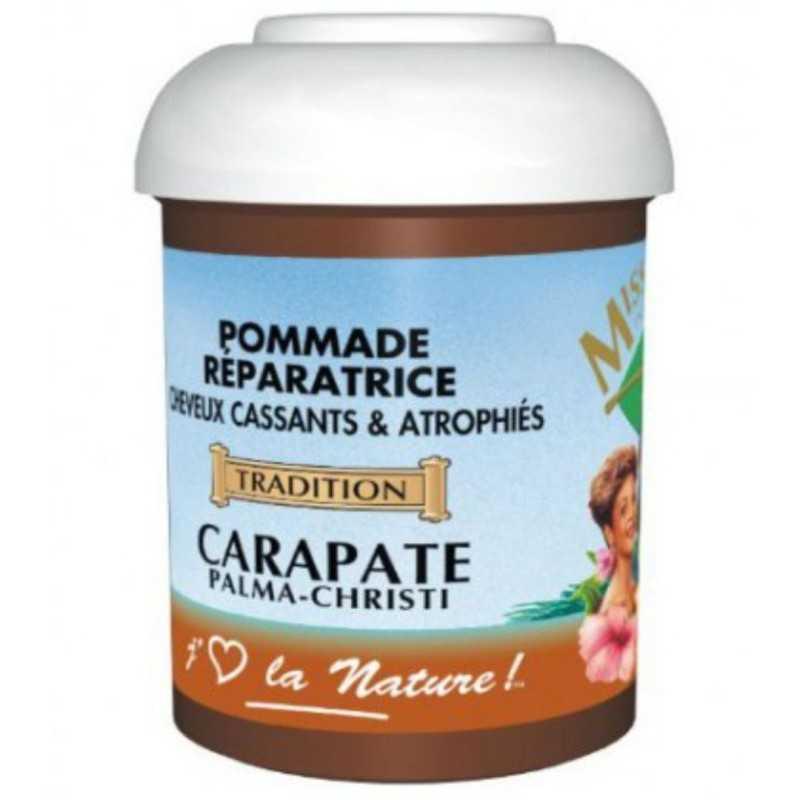 MISS ANTILLES INTERNATIONAL :POMMADE REPARATRICE A L'HUILE DE CARAPATE pour cheveux cassants & atrophiés