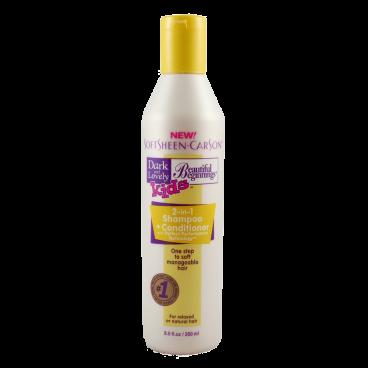 Shampooing + soin 2 en 1 pour enfants - 250 ml Pour cheveux défrisés ou naturels Dark an Lovely
