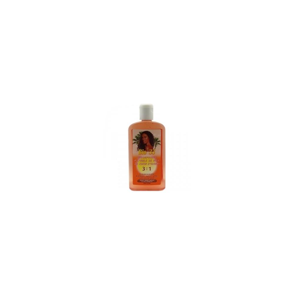 BIO 33   Shampooing 3 en 1 à L'huile de Noix de Kukui