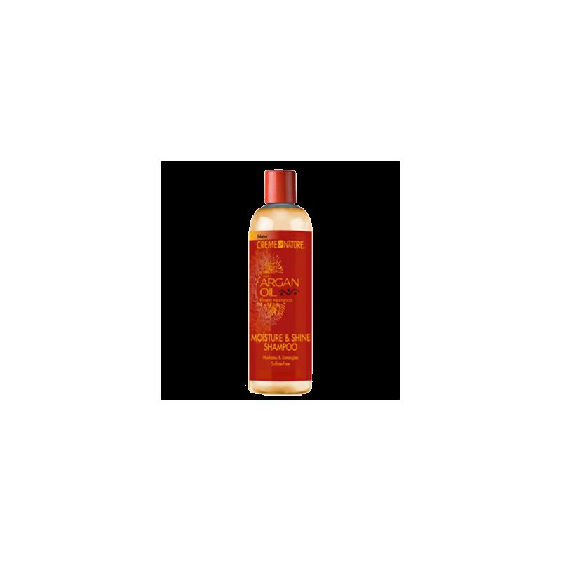 Crème of Nature :l'humidité et l'huile d'Argan Shampoing Brillance  355 ml
