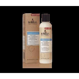 Shampoing 2 en 1 Anti-pelliculaire conditionneur cheveux secs et abimes Dr Miracle's