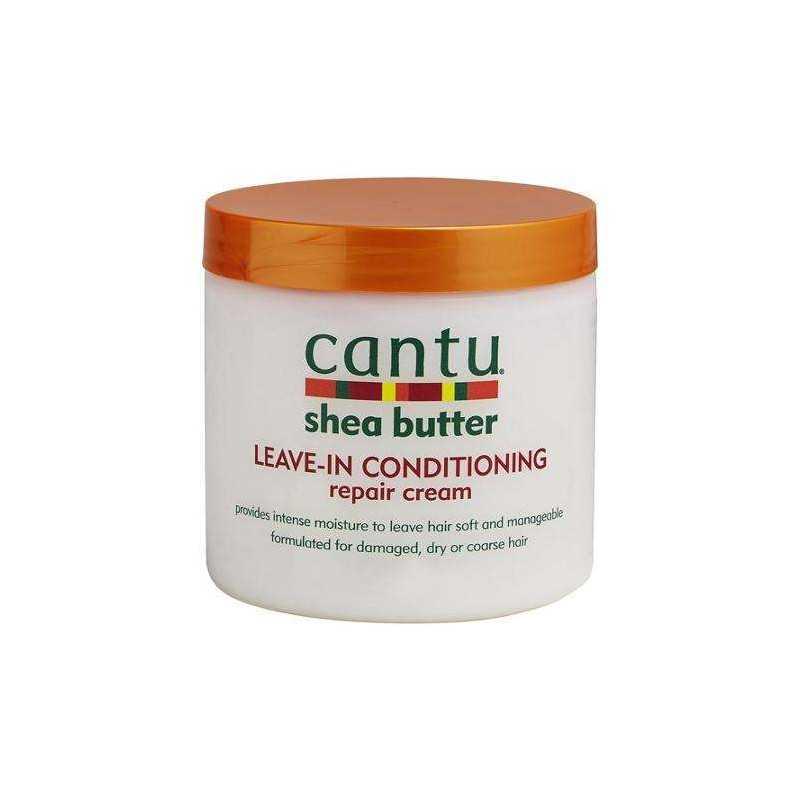 Crème revitalisante au beurre de Karité pour les soins cheveux secs et cassants-Cantu Shea Butter