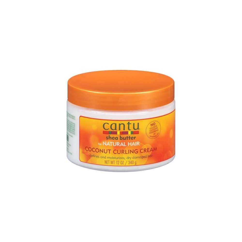 Cantu crème de curloing aux noix de coco et au beurre de karité pour les cheveux naturels 340g