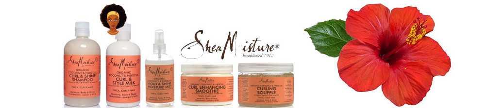 Shea moisture noix de Coco et Hibiscus