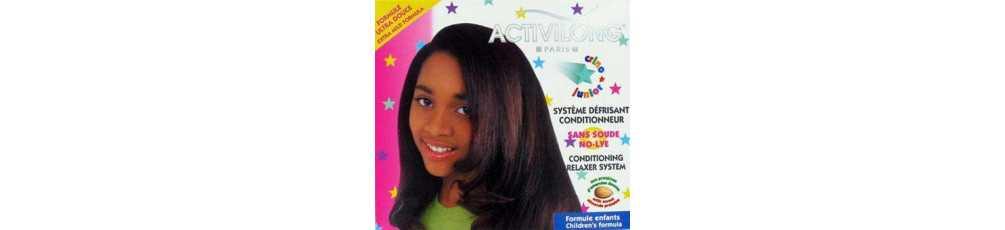 Défrisant pour cheveux des enfants afro